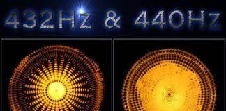 432hz vs 440hz water sound image