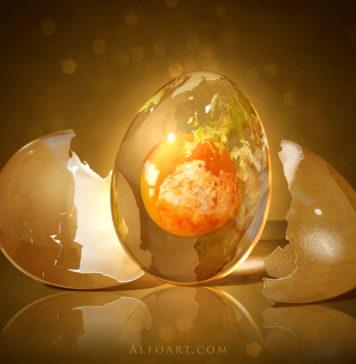 Egg Planet Cosmic Egg Divination