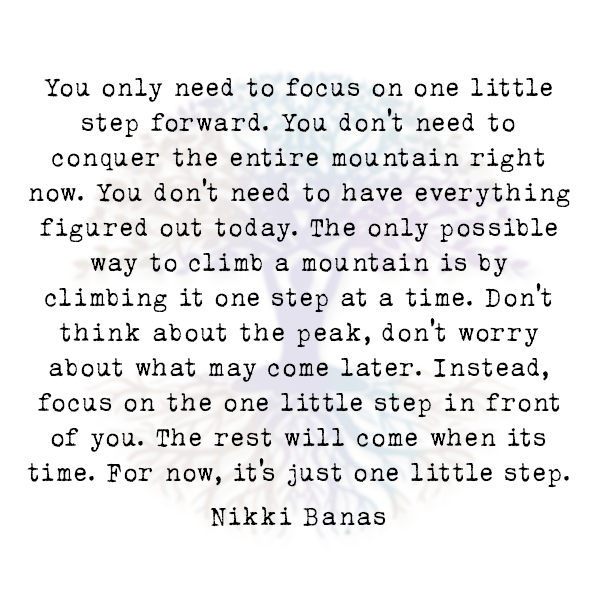 You Only Need to Focus on One Little Step Forward