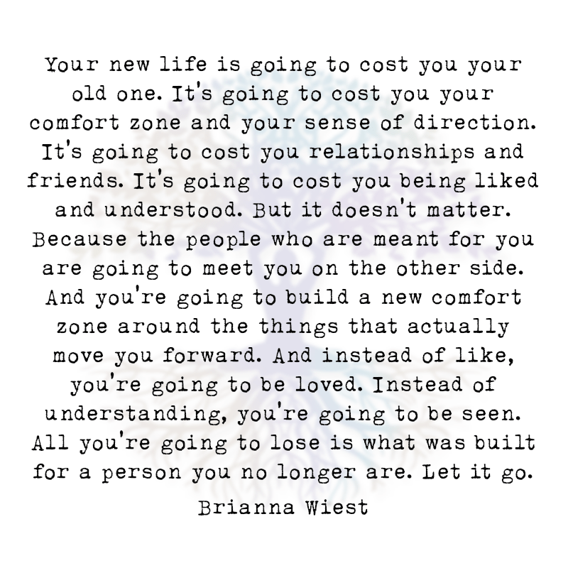 Your New Life is Going to Cost You Your Old One.