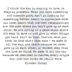 I Think the Key to Staying in Love, is Staying Grateful