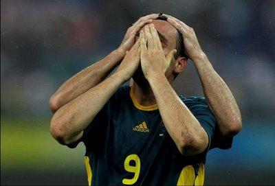 Illusion of Mark Bridge, Australia soccer player